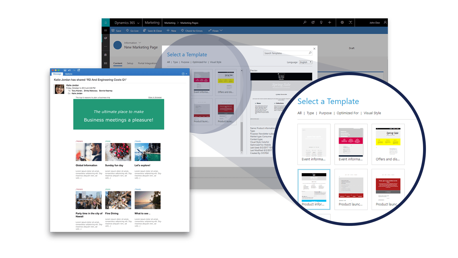 Screenshot Microsoft Dynamics Marketing Pages