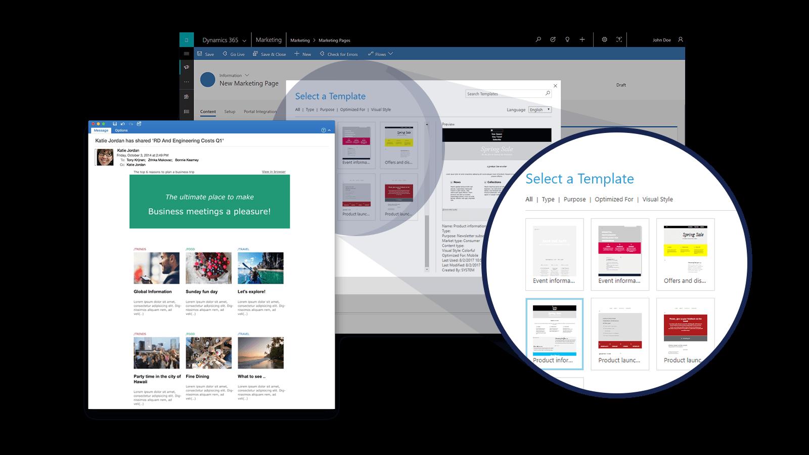 Screenshot Microsoft Dynamics Marketing Pages
