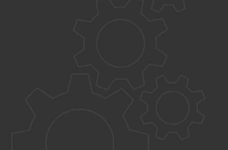 Icons hellgraue Einstellungsrädchen auf dunklem Hintergrund