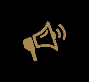goldenes Icon Megaphon