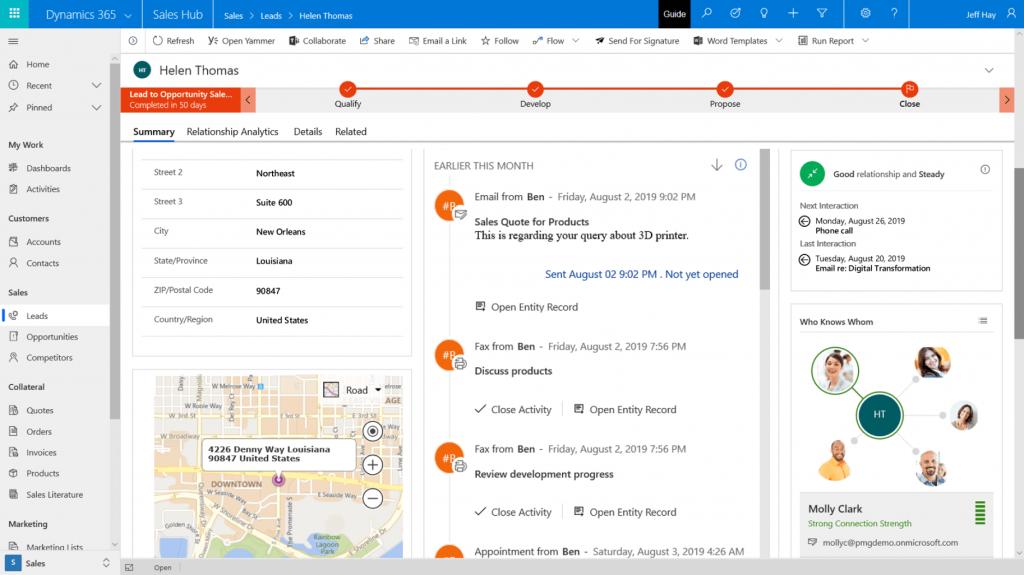 Screenshot Microsoft Dynamics on all devices